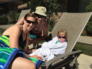 Hanging out at the pool in Chelan, WA.